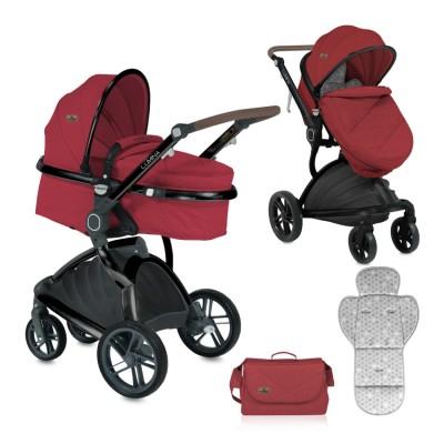 Бебешка количка LUMINA Lorelli 2018 RED 10021211865