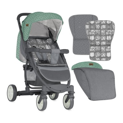 Бебешка количка Lorelli S300 2018 - GREEN&GREY 10020841841