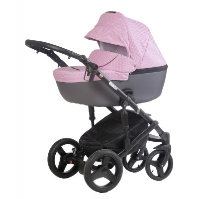 Бебешка количка Naomi 2018 Dizain Baby 3в1 2018 - розова