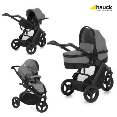 Бебешка количка Hauck Maxan 3 Plus Trio Set - Melange Stone 403105
