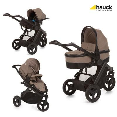 Бебешка количка Hauck Maxan 3 Plus Trio Set - Melange Sand 403112