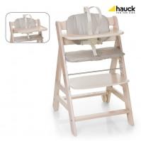 Дървен стол за хранене Beta+ Hauck - Whitewashed