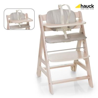 Дървен стол за хранене Beta+ Hauck - Whitewashed 663103