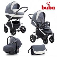 Бебешка количка 3в1 Buba Forester 595 - сива