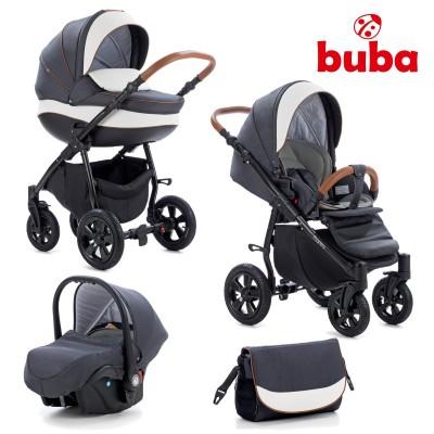 Бебешка количка 3в1 Buba Forester 596 - черна 596