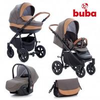 Бебешка количка 3в1 Buba Forester 597 - тъмно кафява