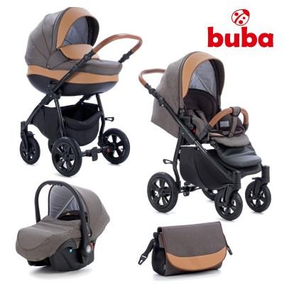 Бебешка количка 3в1 Buba Forester 597 - тъмно кафява 597
