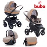 Бебешка количка 3в1 Buba Forester 598 - бежова