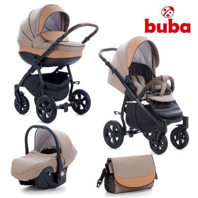 Бебешка количка 3в1 Buba Forester 598 - бежова 598