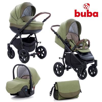 Бебешка количка 3в1 Buba Forester 599 - зелена 599