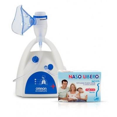 Компресорен инхалаторът Omron A3 Complete + ПОДАРЪК физиологичен разтвор