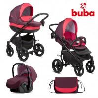 Бебешка количка 3в1 Buba Bella 706 - Burgundy