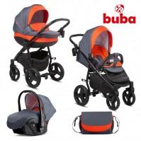 Бебешка количка 3в1 Buba Bella 713 - Pewter Orange