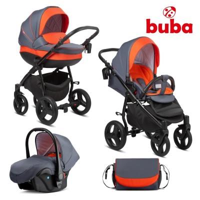 Бебешка количка 3в1 Buba Bella 713 - Pewter Orange 713