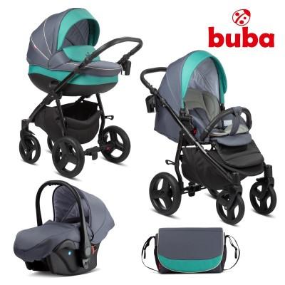 Бебешка количка 3в1 Buba Bella 755 - Pewter Green 755