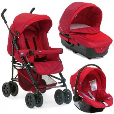 CHICCO TRIO ENJOY FUN 2012/2013Garnet комбинирана бебешка количка