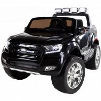 Двуместен акумулаторен джип FORD REVENGER 2X12V MP4 (видео) с меки гуми и кожени седалки - черен