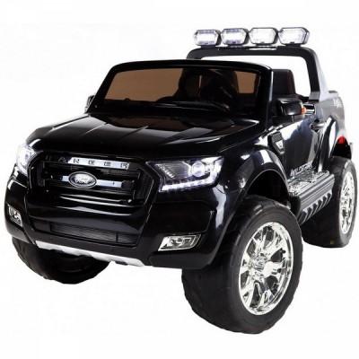 Двуместен акумулаторен джип FORD REVENGER 2X12V MP4 (видео) с меки гуми и кожени седалки - черен F650