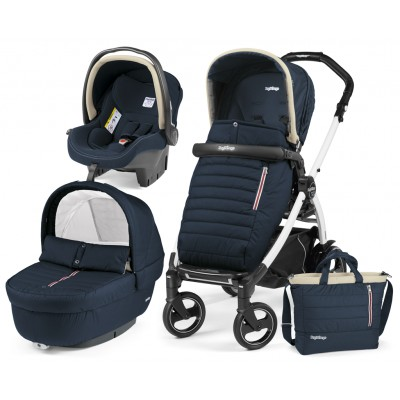 Бебешка количка BOOK ELITE MODULAR 3в1 Peg Perego - BREEZE BLUE