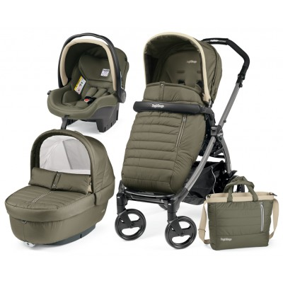 Бебешка количка BOOK ELITE MODULAR 3в1 Peg Perego - BREEZE KAKI