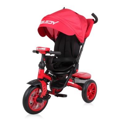 3ce5340e4b6 Детска триколка SPEEDY Lorelli 2019 с въздушни гуми - Red&Black 10050430003