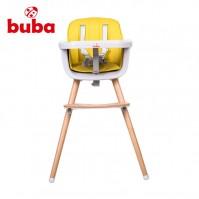 Столче за хранене Buba Carino 2в1 - жълто