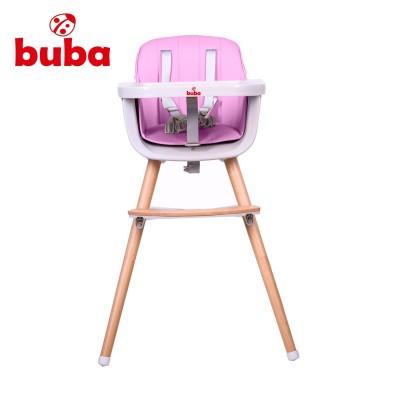 Столче за хранене Buba Carino 2в1 - розово NEW022377