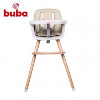 Столче за хранене Buba Carino 2в1 - слонова кост