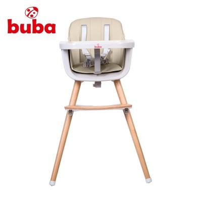 Столче за хранене Buba Carino 2в1 - слонова кост NEW022378