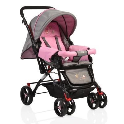 Комбинирана детска количка Mina - розова