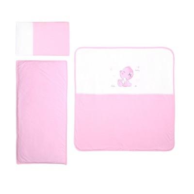 Сет за детска количка ватиран za za розово 20801000001