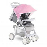 Сенник за детска количка розови триъгълници