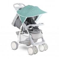 Сенник за детска количка зелено на звезди
