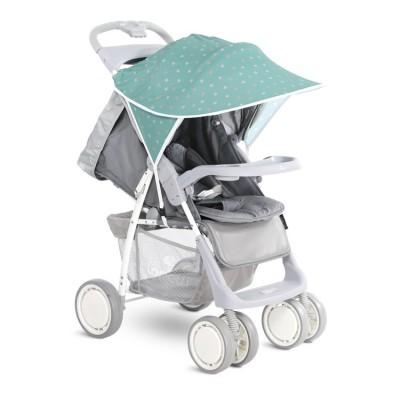 Сенник за детска количка зелено на звезди 20800931905