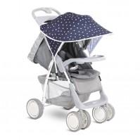 Сенник за детска количка тъмносиньо бели звезди