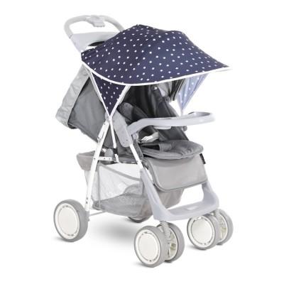 Сенник за детска количка тъмносиньо бели звезди 20800931904