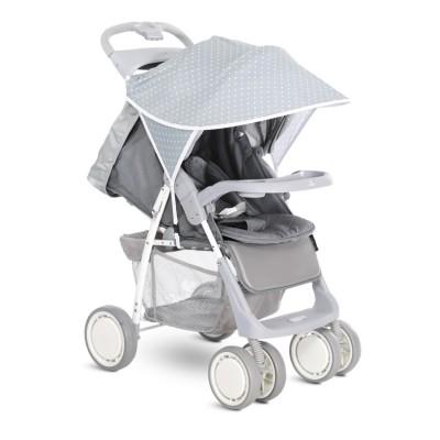 Сенник за детска количка сиво с бели точки 20800931903