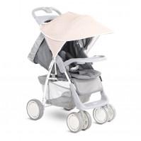 Сенник за детска количка бежово с бели точки