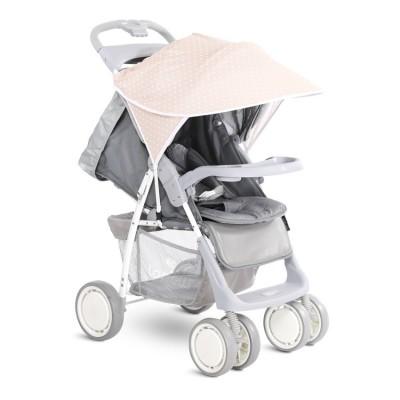 Сенник за детска количка бежово с бели точки 20800931901