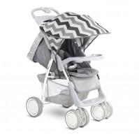 Сенник за детска количка сиви линии