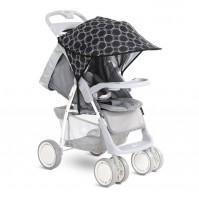Сенник за детска количка черно с кръгове
