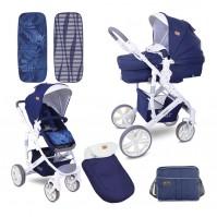 Бебешка количка verso dark blue flowers
