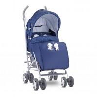 Бебешка количка ida+покривало dark blue happy hippo