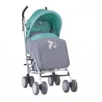 Бебешка количка ida+покривало grey&green bunnies
