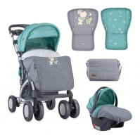 Бебешка количка toledo set grey&green bunnies