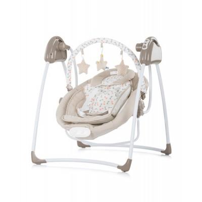 Електрическа бебешка люлка-шезлонг Парадайз - бежова LSHP01903BG